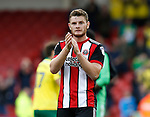 Jack O'Connell of Sheffield Utd applauds the fans during the Championship match at Bramall Lane Stadium, Sheffield. Picture date 16th September 2017. Picture credit should read: Simon Bellis/Sportimage
