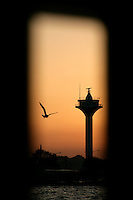 Uskudar lighthouse at sunset, Istanbul, Turkey