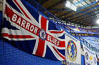 'Barrow Blues' banner on display at Stamford Bridge during Chelsea vs Hull City, Emirates FA Cup Football at Stamford Bridge on 16th February 2018