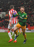Preston North End's Tom Barkhuizen celebrates scoring his team's second goal<br /> <br /> Photographer Dave Howarth/CameraSport<br /> <br /> The EFL Sky Bet Championship - Stoke City v Preston North End - Wednesday 12th February 2020 - bet365 Stadium - Stoke-on-Trent <br /> <br /> World Copyright © 2020 CameraSport. All rights reserved. 43 Linden Ave. Countesthorpe. Leicester. England. LE8 5PG - Tel: +44 (0) 116 277 4147 - admin@camerasport.com - www.camerasport.com