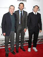 NEW YORK, NY - NOVEMBER 12: Robert De Niro, Bradley Cooper and David O. Russell  at the 'Silver Linings Playbook' Tribeca Teaches Benefit Premiere at the Ziegfeld Theatre on November 12, 2012 in New York City. Credit: RW/MediaPunch Inc. /NortePhoto/nortephoto@gmail.com