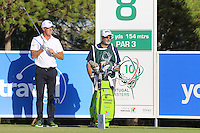 Richard Green (AUS) on the 8th tee during Thursday's Round 1 of the 2016 Portugal Masters held at the Oceanico Victoria Golf Course, Vilamoura, Algarve, Portugal. 19th October 2016.<br /> Picture: Eoin Clarke   Golffile<br /> <br /> <br /> All photos usage must carry mandatory copyright credit (© Golffile   Eoin Clarke)