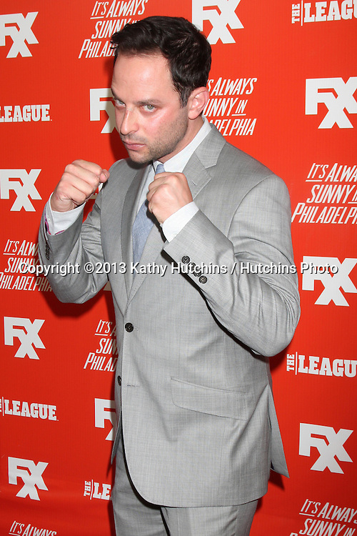 """LOS ANGELES - SEP 3:  Nick Kroll at the FXX Network Launch Party And Premieres For """"It's Always Sunny In Philadelphia"""" And """"The League"""" at the Lure on September 3, 2013 in Los Angeles, CA"""
