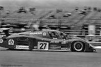 LE MANS, FRANCE: The Mirage M12 01/Ford of Mario and Michael Andretti is driven during practice for the 24 Hours of Le Mans on June 20, 1982, at Circuit de la Sarthe in Le Mans, France.