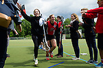 GER - Hannover, Germany, May 30: During the Women Lacrosse Playoffs 2015 match between DHC Hannover (black) and SC Frankfurt 1880 (red) on May 30, 2015 at Deutscher Hockey-Club Hannover e.V. in Hannover, Germany. Final score 23:3. (Photo by Dirk Markgraf / www.265-images.com) *** Local caption ***