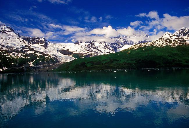 Glaciers in Harriman Fiord, Prince William Sound, Alaska, United States, North America.