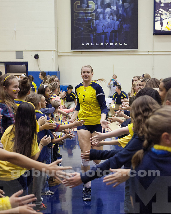 The University of Michigan women's volleyball swept No. 10 Minnesota, 3-0, at Cliff Keen Arena in Ann Arbor, Mich., on November 10, 2012.