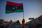 MISRATA, LIBYA &mdash; <br /> <br /> Protesters gather on Tripoli street (one of the main avenues in Misrata that saw some of the worst battles of 2011), to voice their discontent on what they perceive is General Haftar's alliance with Egypt's Sisi government.