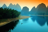 The Li Jiang (Li River), Yangshuo (near Guilin), Guangxi region, southern China.