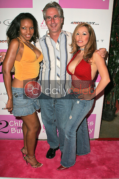 """Mari with Jack Silver and Chavonne Delgado<br /> at the one year anniversary party for """"Two Chicks and a Bunny"""" and Tina Jordan Birthday Party, Cabana Club, Hollywood, CA 08-24-05  EXCLUSIVE<br /> <br /> David Edwards/DailyCeleb.Com 818-249-4998"""