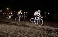 Philipp Walsleben (DEU/BKCP-Powerplus) leading ahead of Tom Meeusen (BEL/Telenet-Fidea) &amp; Wout Van Aert (BEL/Vastgoedservice-Golden Palace)<br /> <br /> Zilvermeercross 2014