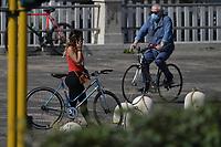 Bikers <br /> Roma 9-5-2020 Centro Federale di Ostia <br /> Italian team athletes train in the second session after more than 50 days of lockdown due to the coronavirus (covid-19) pandemic <br /> <br /> Secondo giorno di allenamento di alcuni atleti italiani dopo la fase di lockdown dovuta alla pandemia di Coronavirus. <br /> <br /> Photo Andrea Staccioli / Deepbluemedia / Insidefoto