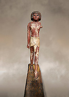 Ancient Egyptian wooden statue,  Middle Kingdom (1980-1700 BC), tomb of Shimes, Asyut. Egyptian Museum, Turin.