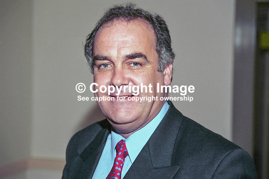 Andrew MacKinlay, MP, Labour Party, Britain, UK, 199810152.<br /> <br /> Copyright Image from Victor Patterson, 54 Dorchester Park, <br /> Belfast, UK, BT9 6RJ<br /> <br /> t1: +44 28 9066 1296 (from Rep of Ireland 048 9066 1296)<br /> t2: +44 28 9002 2446 (from Rep of Ireland 048 9002 2446)<br /> m: +44 7802 353836<br /> <br /> e: victorpatterson@me.com<br /> www.victorpatterson.com<br /> <br /> Please see my Terms and Conditions of Use at www.victorpatterson.com. It is IMPORTANT that you familiarise yourself with them.<br /> <br /> Images used on the Internet must be visibly watermarked i.e. &copy; Victor Patterson<br /> within the body of the image and copyright metadata must not be deleted. Images <br /> used on the Internet have a size restriction of 4kbs and will be chargeable at current<br />  NUJ rates unless agreed otherwise.<br /> <br /> This image is only available for the use of the download recipient i.e. television station, newspaper, magazine, book publisher, etc, and must not be passed on to any third <br /> party. It is also downloaded on condition that each and every usage is notified within 7 days to victorpatterson@me.com<br /> <br /> The right of Victor Patterson to be identified as the author is asserted in accordance with The Copyright Designs And Patents Act (1988). All moral rights are asserted