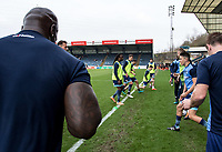 Warm ups, Mascots and fans during the Sky Bet League 2 match between Wycombe Wanderers and Blackpool at Adams Park, High Wycombe, England on the 11th March 2017. Photo by Liam McAvoy.