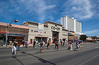 UT Drag Guadalupe Street's for UT students bookstores, restaurants & shopping - Stock Photo Gallery