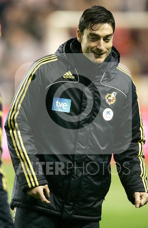 Spain´s Albert Riera before an international friendly, February 11, 2009. (ALTERPHOTOS).