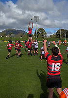 Action from the Jock Hobbs Memorial Under-19 Tournament rugby match between North Harbour and Canterbury at Owen Delany Park in Taupo, New Zealand on Saturday, 16 September 2012. Photo: Dave Lintott / lintottphoto.co.nz