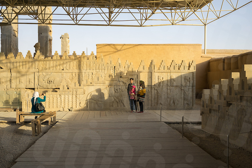 June 26, 2014 - Persepolis (Iran). Local tourists visit the ancient city of Persepolis. © Thomas Cristofoletti / Ruom