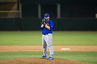 AZL Cubs relief pitcher Jeffrey Passantino (96) prepares to deliver a pitch during Game Three of the Arizona League Championship Series against the AZL Giants on September 7, 2017 at Scottsdale Stadium in Scottsdale, Arizona. AZL Cubs defeated the AZL Giants 13-3 to win the series two games to one. (Zachary Lucy/Four Seam Images)