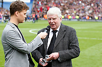 John Motson speaks about his final match as a commentator during the EPL - Premier League match between Crystal Palace and West Bromwich Albion at Selhurst Park, London, England on 13 May 2018. Photo by Carlton Myrie / PRiME Media Images.