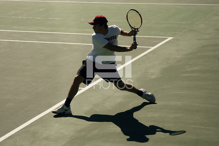 STANFORD, CA - OCTOBER 21:  Alex Clayton of the Stafnord Cardinal during the ITA Regional Singles Finals on October 21, 2008 at the Taube Family Tennis Stadium in Stanford, California.