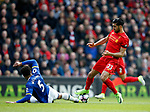 Ashley Williams of Everton tackles Emre Can of Liverpool during the English Premier League match at Anfield Stadium, Liverpool. Picture date: April 1st 2017. Pic credit should read: Simon Bellis/Sportimage