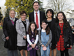 Niamh Woods who was confirmed at the church of the Immaculate conception Termonfeckin pictured with her family. Photo: Colin Bell/pressphotos.ie