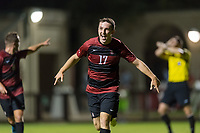 Stanford , CA - September 24, 2019: Stanford defeats the San Jose State Spartan 3-0 in a Men's soccer game at Laird Q. Cagan Stadium