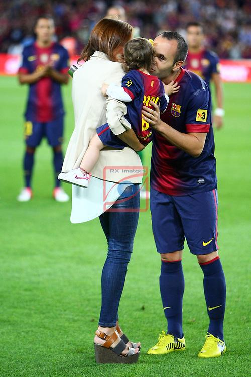 Andres Iniesta. FC Barcelona vs Valencia CF: 1-0 - LFP League BBVA 2012/13 - Game: 3.