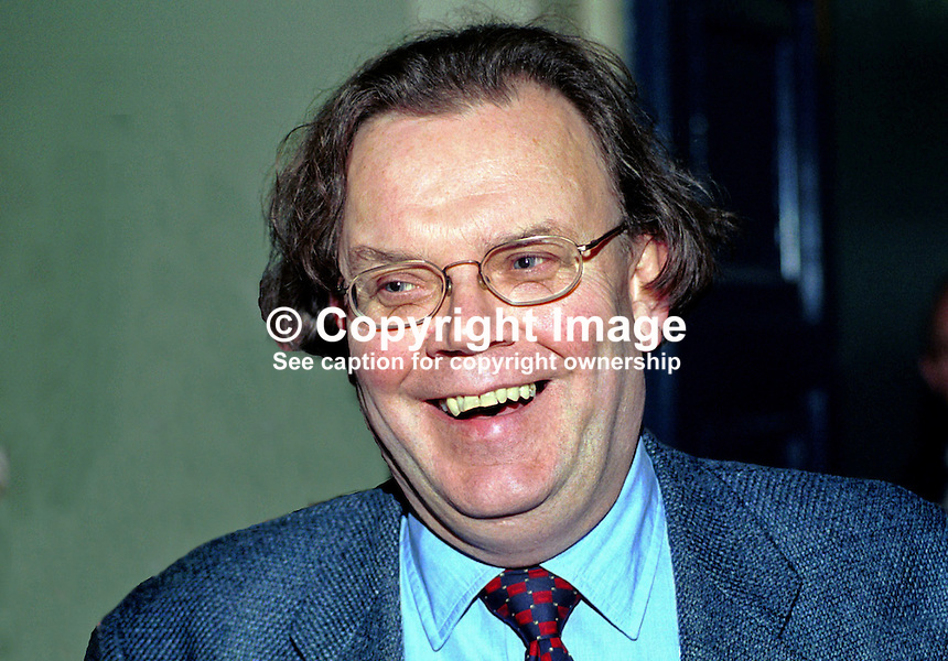 Tom Hartley, Sinn Fein councillor, Belfast City Council, N Ireland, UK. Taken at Sinn Fein Ard Fheis (Party Conference) in Dublin April 2000...Copyright Image from Victor Patterson, 54 Dorchester Park, Belfast, UK, BT9 6RJ..Tel: +44 28 9066 1296.Mob: +44 7802 353836.Voicemail +44 20 8816 7153.Skype: victorpattersonbelfast.Email: victorpatterson@mac.com.Email: victorpatterson@ireland.com (back-up)..IMPORTANT: If you wish to use this image or any other of my images please go to www.victorpatterson.com and click on the Terms & Conditions. Then contact me by email or phone with the reference number(s) of the image(s) concerned.