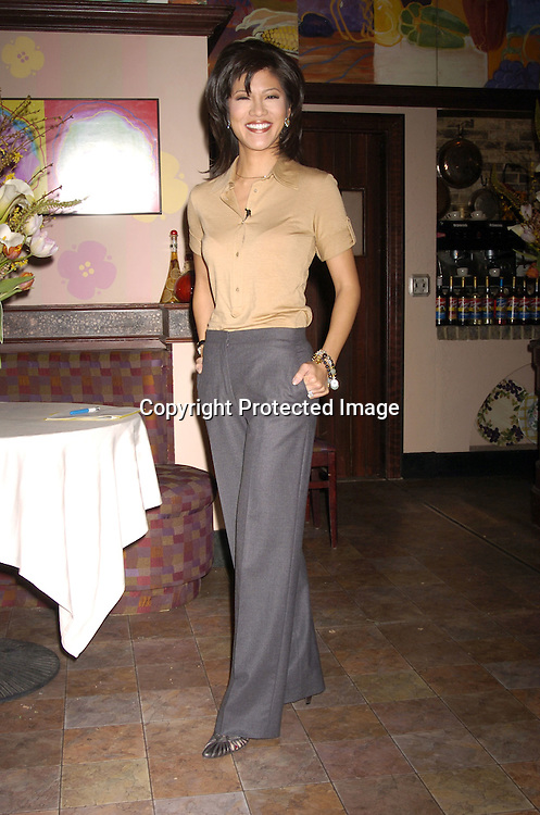 Julie Chen ..at The Announcements of the 32nd Annual Daytime Emmy ..Award's Nominations on March 2, 2005 at Guiding Light Stages in New York City...Photo by Robin Platzer, Twin Images