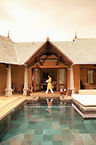 MAURITIUS, Wolmar, an employee suplies a luxury villa with fresh towels, the Maradiva Villas Resort and Spa