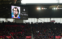 Tribute to Ray Wilkins during the EPL - Premier League match between Chelsea and West Ham United at Stamford Bridge, London, England on 8 April 2018. Photo by PRiME Media Images.
