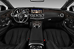 Stock photo of straight dashboard view of 2017 Mercedes Benz S-Class - 2 Door Coupe Dashboard