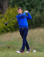Robbie Pierse (Grange) on the 4th tee during Round 4 of the East of Ireland Amateur Open Championship at Co. Louth Golf Club in Baltray on Monday 5th June 2017.<br /> Photo: Golffile / Thos Caffrey.<br /> <br /> All photo usage must carry mandatory copyright credit     (&copy; Golffile | Thos Caffrey)