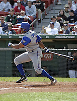 June 26, 2004:  Midre Cummings of the Durham Bulls, International League (AAA) affiliate of the Tampa Bay Devil Rays, during a game at Dunn Tire Park in Buffalo, NY.  Photo by:  Mike Janes/Four Seam Images