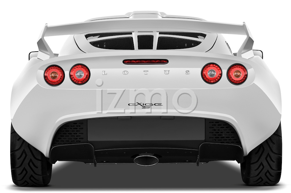 Straight rear view of a 2009 Lotus Exige S 2 Door Coupe