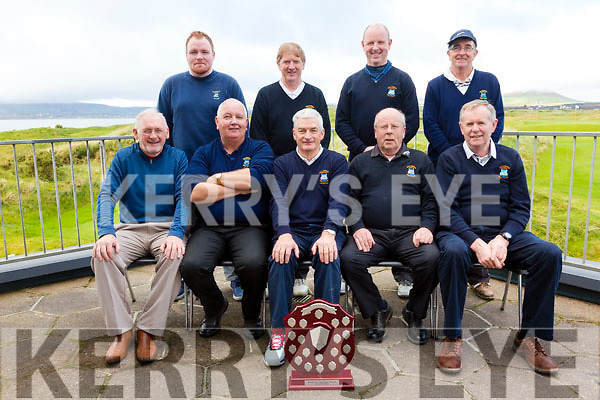 The Ballyheigue side who traveled to Waterville for the second leg of the Kingdom Intermediate Challenge Shield on Saturday pictured here front l-r; Jimmy O'Sullivan, Patrick Carroll, Jasck Dempsey(Club Captain), Michael Hayes(Manager), Joseph O'Connor, back l-r; John Maunsell, Dan O'Connor, Brian O'Loughlin & Donal Galvin.