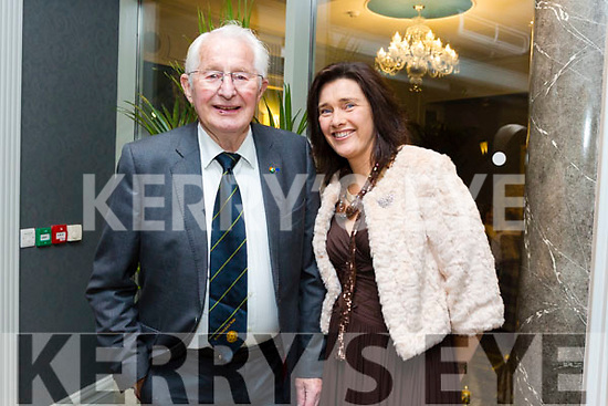 At the Austin Stacks Centenary Gala Dinner in the Rose Hotel on Saturday were Denis O'Regan and Ann Moore