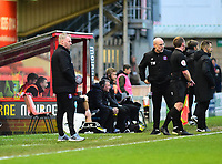 Carlisle United manager John Sheridan in his technical area<br /> <br /> Photographer Andrew Vaughan/CameraSport<br /> <br /> The Emirates FA Cup Second Round - Lincoln City v Carlisle United - Saturday 1st December 2018 - Sincil Bank - Lincoln<br />  <br /> World Copyright © 2018 CameraSport. All rights reserved. 43 Linden Ave. Countesthorpe. Leicester. England. LE8 5PG - Tel: +44 (0) 116 277 4147 - admin@camerasport.com - www.camerasport.com
