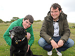 Rowan and Brian O'Donnell with Coco who took part in the annual Fr Declan Collins sponsored walk. Photo: Colin Bell/pressphotos.ie