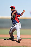 Cleveland Indians pitcher Henry Martinez (48) during an Instructional League game against the Seattle Mariners on October 1, 2014 at Goodyear Training Complex in Goodyear, Arizona.  (Mike Janes/Four Seam Images)