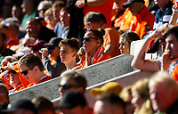 Blackpool fans watch on during the first half<br /> <br /> Photographer Alex Dodd/CameraSport<br /> <br /> The EFL Sky Bet League One - Blackpool v MK Dons  - Saturday September 14th 2019 - Bloomfield Road - Blackpool<br /> <br /> World Copyright © 2019 CameraSport. All rights reserved. 43 Linden Ave. Countesthorpe. Leicester. England. LE8 5PG - Tel: +44 (0) 116 277 4147 - admin@camerasport.com - www.camerasport.com