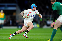 Jack Nowell of England goes on the attack. RBS Six Nations match between England and Ireland on February 27, 2016 at Twickenham Stadium in London, England. Photo by: Patrick Khachfe / Onside Images