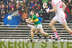 Peter Crowley, Kerry in action against   Tyrone in the fourth round of the National Football league at Fitzgerald Stadium, Killarney on Sunday.