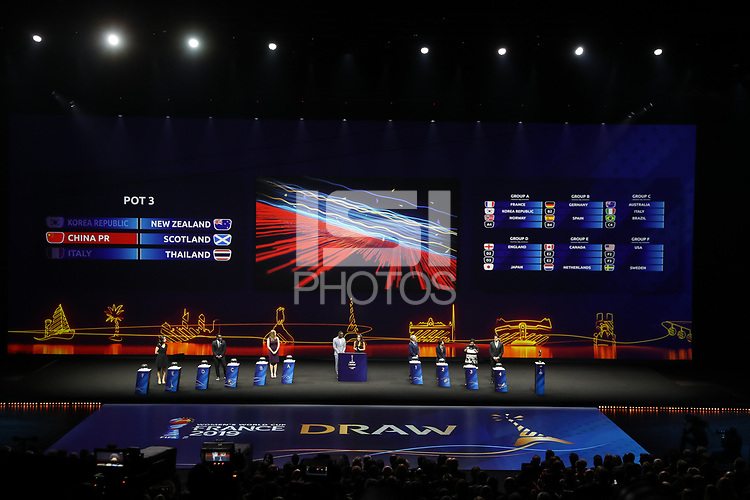 Paris, France - Saturday December 08, 2018: The FIFA Women's World Cup France 2019 Final Draw at La Seine Musicale.