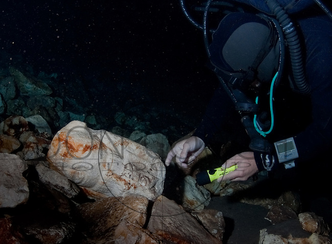 At the bottom of one of the cenotes, de Anda's team found a collapsed and submerged altar with carvings indicating it was dedicated to the gods of death.
