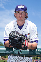 Winston-Salem Dash pitcher Carson Fulmer (16) poses for a photo prior to the game against the Lynchburg Hillcats at BB&T Ballpark on August 2, 2015 in Winston-Salem, North Carolina.  (Brian Westerholt/Four Seam Images)