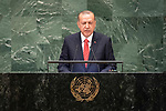 DSG meeting<br /> <br /> AM Plenary General DebateHis<br /> <br /> <br /> His Excellency Recep Tayyip Erdogan, President, Republic of Turkey